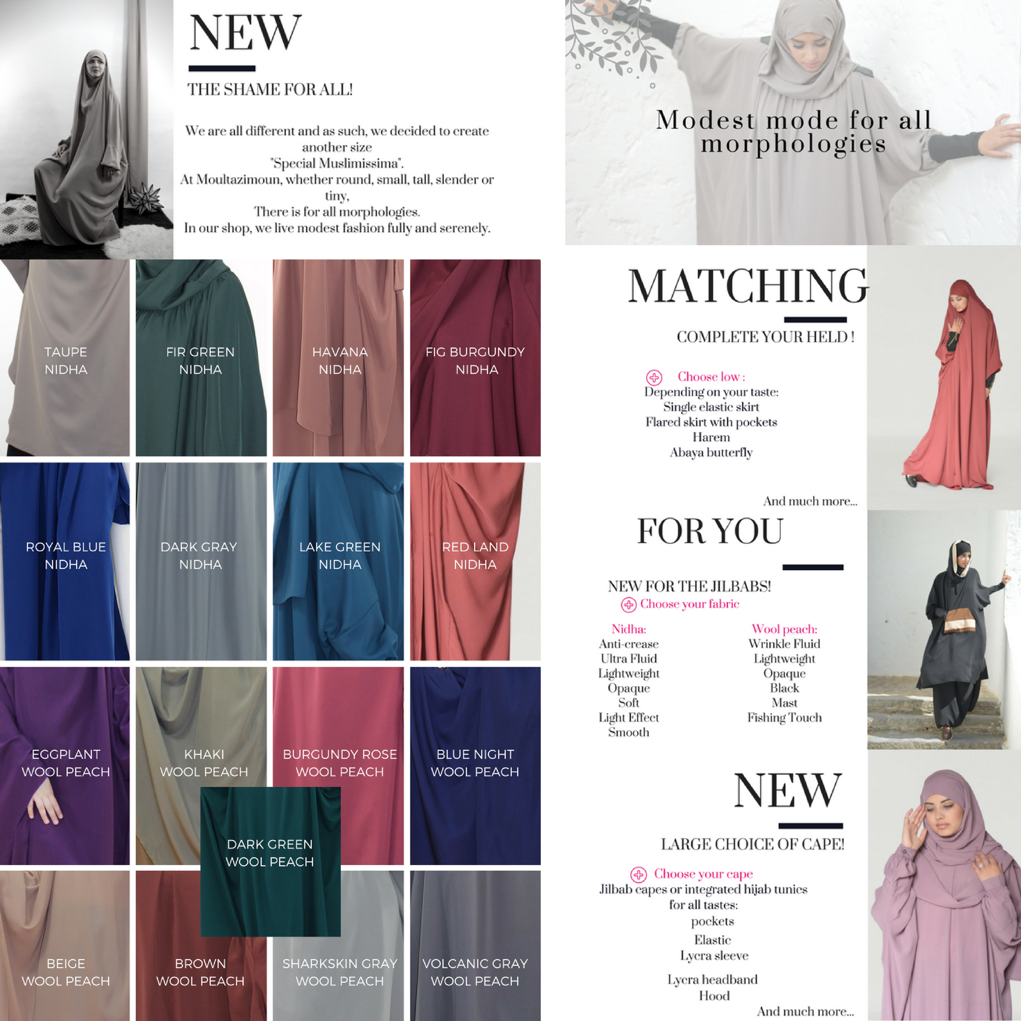 29e0a7800fb Tunic with Integrated Hijab - Al Moultazimoun Boutique